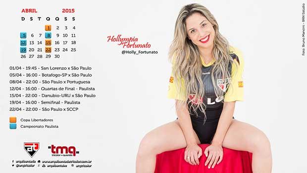Calendário - Abril 2015